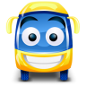 96x96px size png icon of bus yellow