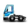 96x96px size png icon of City Truck blue