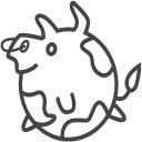 Animal cattle Icon