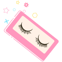 False eyelashes -01 Icon
