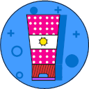 Sunscreen cream Icon