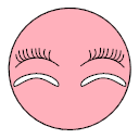 Double eyelid patch and false eyelash Icon