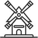 Building house windmill Icon