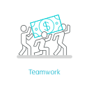 Cooperative work Icon