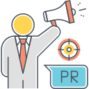 PR & COMMUNICATION Icon