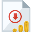Icon? Red ink offset application for collection and payment Icon