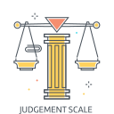 Judgement scale Icon