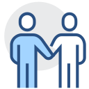 Cooperation, handshake, joint venture Icon