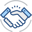 Cooperation, handshake Icon