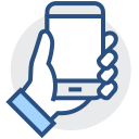 Handset, handset, handset display Icon
