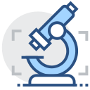 Microscope, physical research, scientific research Icon