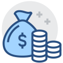 Money, benefit, save, profit Icon