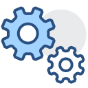 Setup, gear, configuration, background management Icon