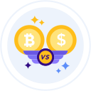 bitcoin-vs-dollar Icon