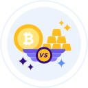 bitcoin-vs-gold Icon