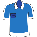 Short sleeved collar Icon