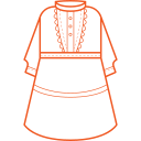 Solid dress Icon