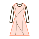 Long sleeved dress Icon