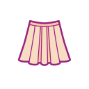 Girl's heart clothing umbrella skirt Icon