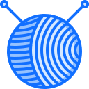 2 yarn, ball, needle Icon