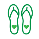 Spring new - Flip Flop Icon