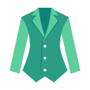 Garment icon solid color suit Icon