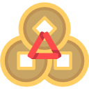 Copper coin buckle Icon