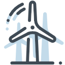 Windmill power generation Icon