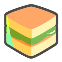 Small square cake Icon