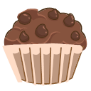 Chocolate Chips Muff Icon