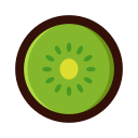 Delicious kiwi fruit Icon