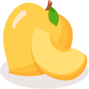 Yellow peach Icon