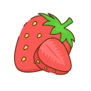Dried strawberry Icon