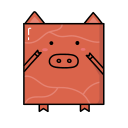 Dried pork slice Icon
