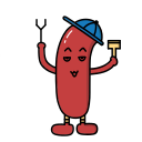 Sizzling charcoal sausage Icon