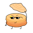 Hand tearing bread Icon