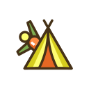 Yoga Retreat Icon