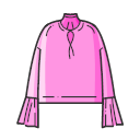 Lantern Sleeve Shirt Icon