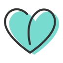 Heart shaped leaves Icon