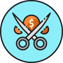 Cut Transaction Cost Icon
