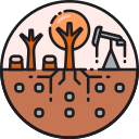 Exhaustion of Land Resources Icon