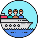 Trafficking Boat Icon