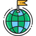 destination flag Icon