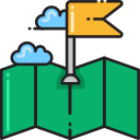 paper map destination Icon