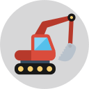 Excavating machinery Icon