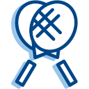 Badminton racket Icon