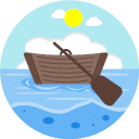 Wooden boat Icon