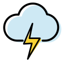 Weather icon lightning Icon