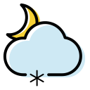Weather icon snow shower night Icon