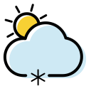 Weather icon snow shower Icon
